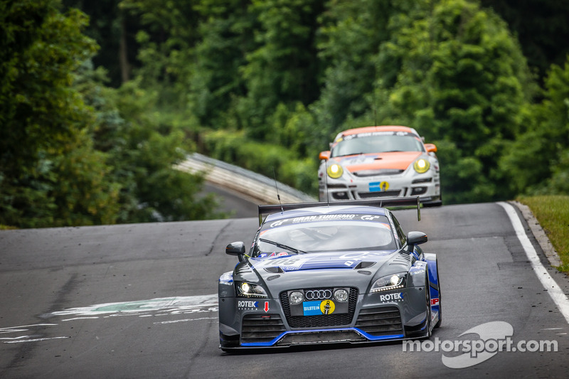 #108 Rotek Racing Audi TT RS: Robert Huff, Robb Holland, Richard Meins, Kevin Gleason