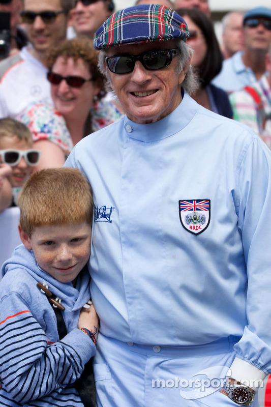 Sir Jackie Stewart com seu neto