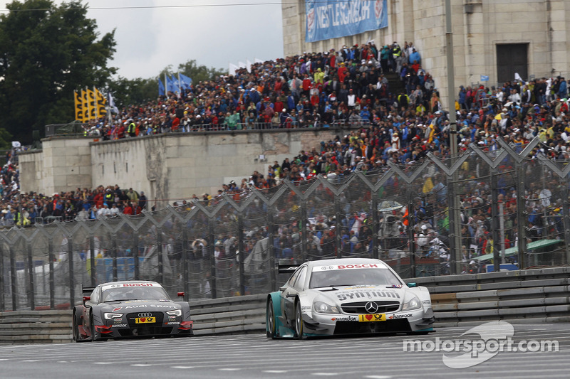 Daniel Juncadella, Mercedes AMG DTM-Team Mücke DTM Mercedes AMG C-Coupé and Edoardo Mortara, Audi Sport Team Abt Audi RS 5 DTM
