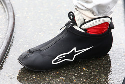 Rain cover from the shoes of Mike Rockenfeller, Audi Sport Team Phoenix Audi RS 5 DTM