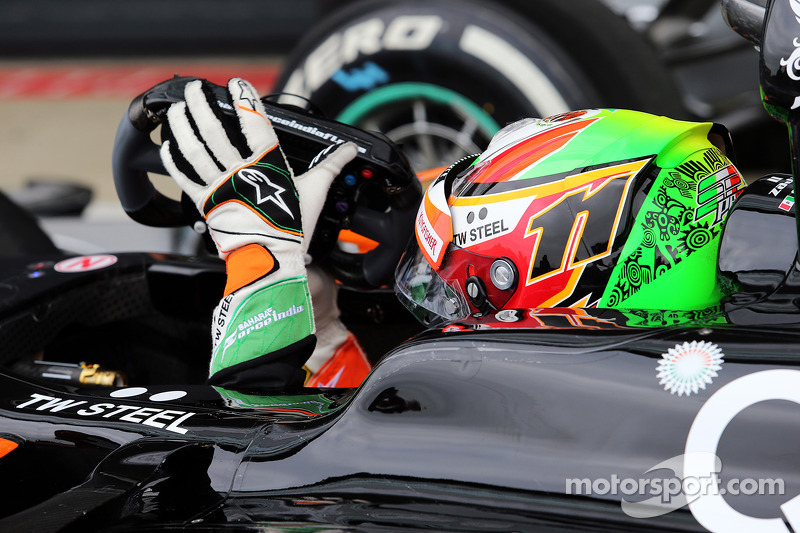 Sergio Pérez, Sahara Force India F1 VJM07 en parc ferme