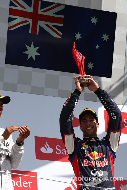 3rd place Daniel Ricciardo, Red Bull Racing RB10