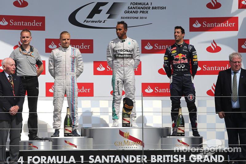 Valtteri Bottas, Williams F1 Team, Lewis Hamilton, Mercedes AMG F1 Team e Daniel Ricciardo, Red Bull