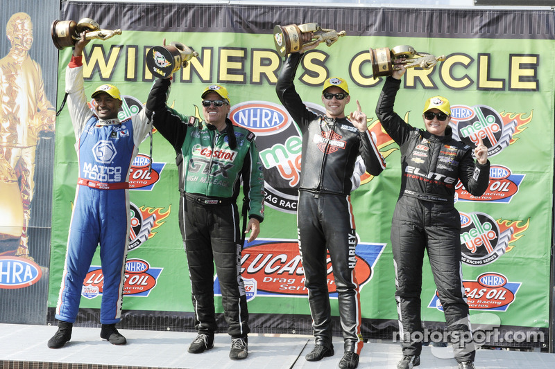 Vincitori Antron Brown, Erica Enders, Andrew Hines e Troy Coughlin