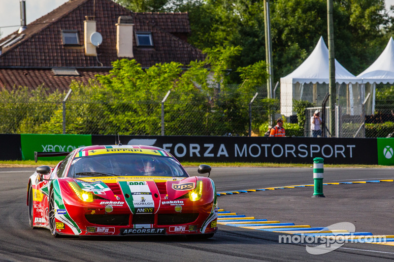 Nobody could beat the #51 Ferrari 458 Italia of AF Corse in the GTE Pro class at Le Mans.