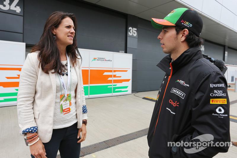 Sergio Perez, Sahara Force India F1, con Hannah White, avventuriere e marinaio