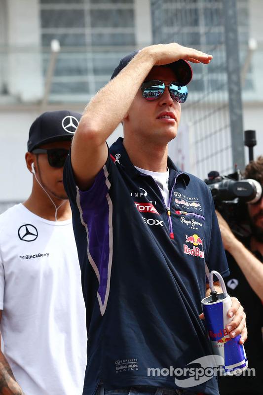 Sebastian Vettel, Red Bull Racing na parada dos pilotos