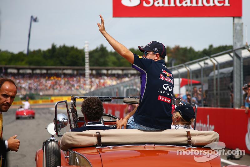 Sebastian Vettel, Red Bull Racing en el desfile de pilotos