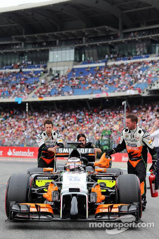 Nico Hulkenberg, Sahara Force India F1 VJM07, no grid