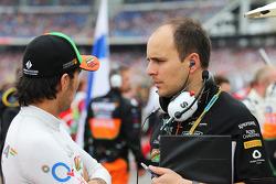 Sergio Pérez, Sahara Force India F1 con Gianpiero Lambiase, Sahara Force India F1 ingeniero