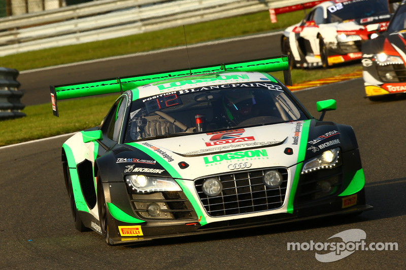 #22 Team Parker Racing Audi R8 LMS ultra: Ian Loggie, Leonid Machitski, Carl Rosenblad, Julian Westwood