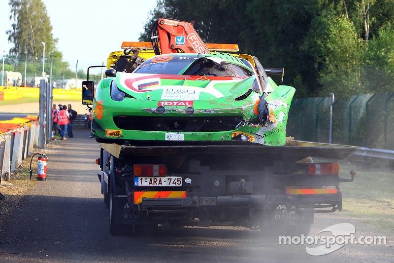# 458 GT Corse by Rinaldi Ferrari 458 Italia: Alexander Mattschull, Roger Grouwels, Tim Muller, Pierre Ehret, danneggiata