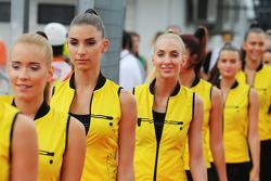 Fahrerparade: Gridgirls