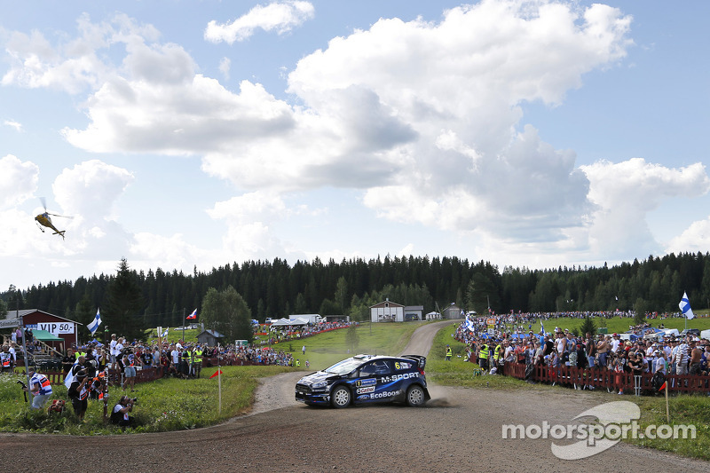 Elfyn Evans ve Daniel Barrit, M-Sport Ford Fiesta WRC