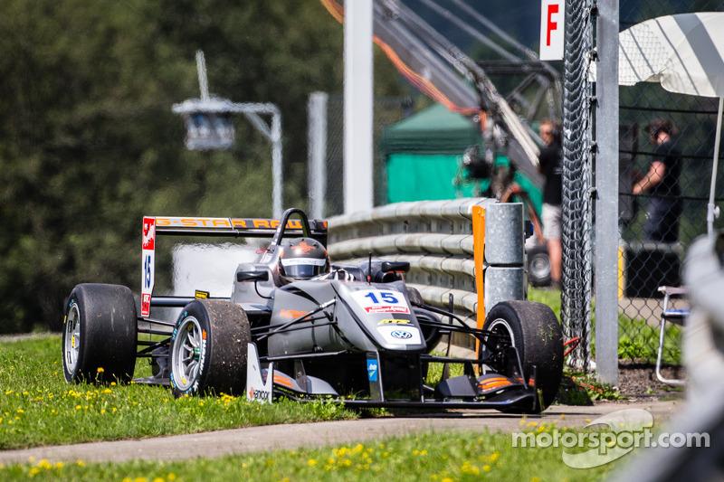 朱尔斯·西岑科维亚克,范·安默斯福特车队达拉拉F313大众赛车因悬挂弯折退赛