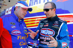 Crew chief Frank Kerr and Marcos Ambrose