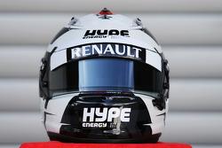 El casco de Andre Lotterer, Caterham F1 Team