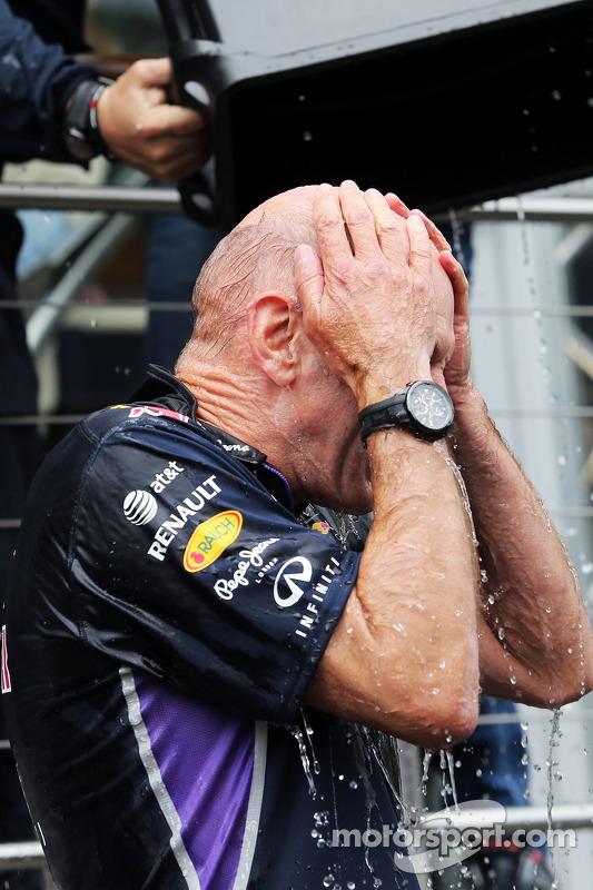 Adrian Newey, Technikchef Red Bull Racing; bei der ALS Ice Bucket Challenge