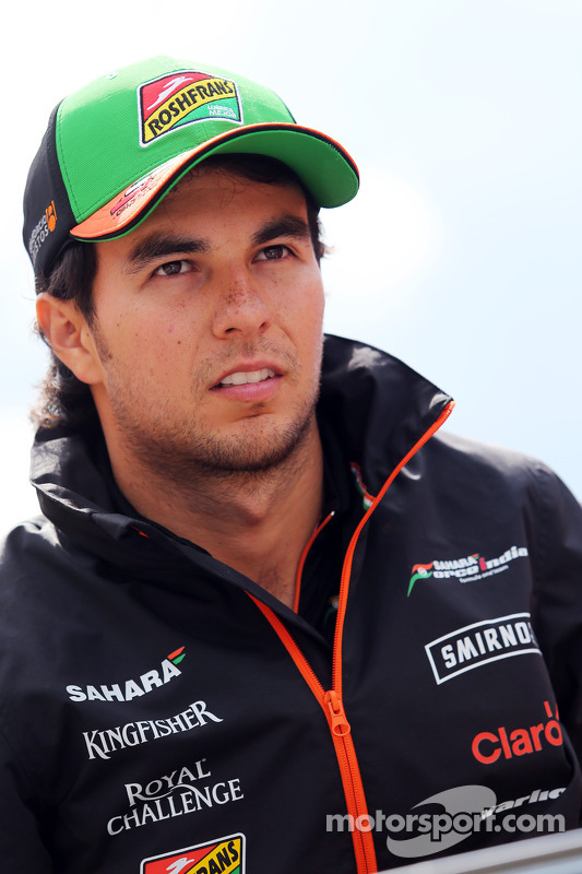 Sergio Perez, Sahara Force India F1 na parada dos pilotos