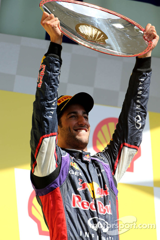 Podium: 1. Daniel Ricciardo, Red Bull Racing