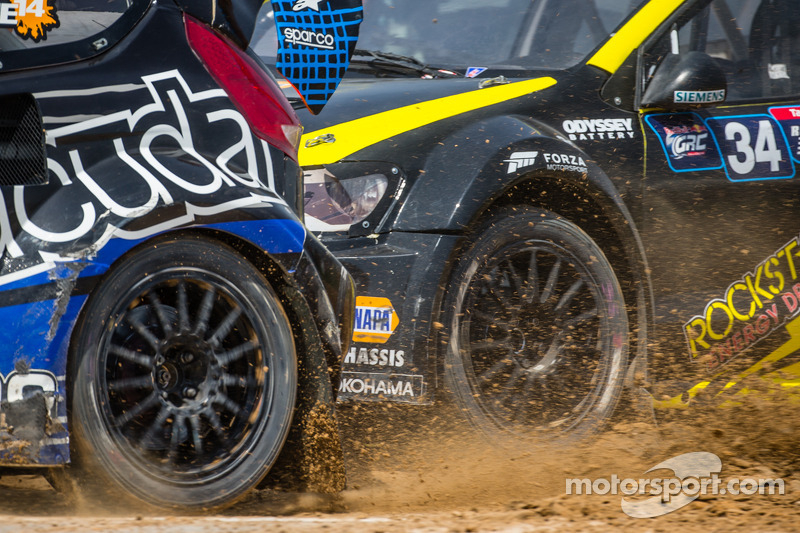 #14 Barracuda Racing Ford Fiesta ST: Austin Dyne e #34 Volkswagen Andretti Rallycross Volkswagen Polo: Tanner Foust