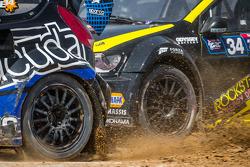 #14 Barracuda Racing 福特嘉年华 ST: 奥斯丁·达因 和 #34 大众 安德雷蒂 Rallycross 大众 Polo: 泰纳·福斯特