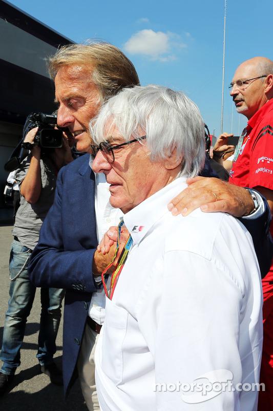 Bernie Ecclestone, con Luca di Montezemolo, presidente de Ferrari