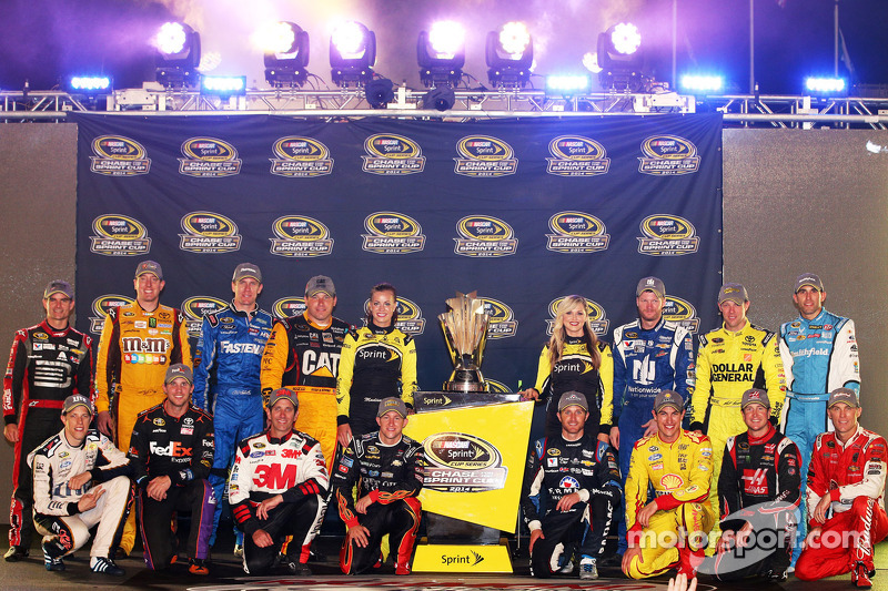Pilotos de la Caza Jeff Gordon, Denny Hamlin, Kyle Busch, Carl Edwards, Ryan Newman, Joey Logano, Ku