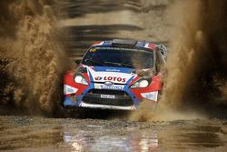罗伯特·库比卡,和Maciek Szczepaniak, 福特嘉年华 WRC