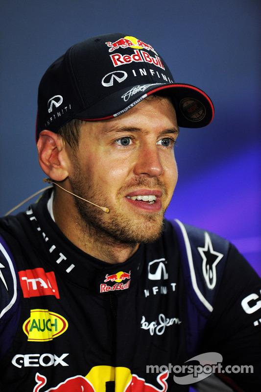 Sebastian Vettel, Red Bull Racing na conferência de imprensa