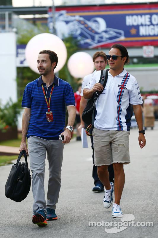 Felipe Massa, Williams, com Nicolas Todt, Dr. Vijay Mallya