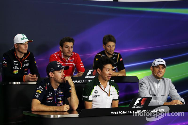 Conferencia de prensa de la FIA: Nico Hulkenberg, Sahara Force India F1; Jules Bianchi, Marussia F1