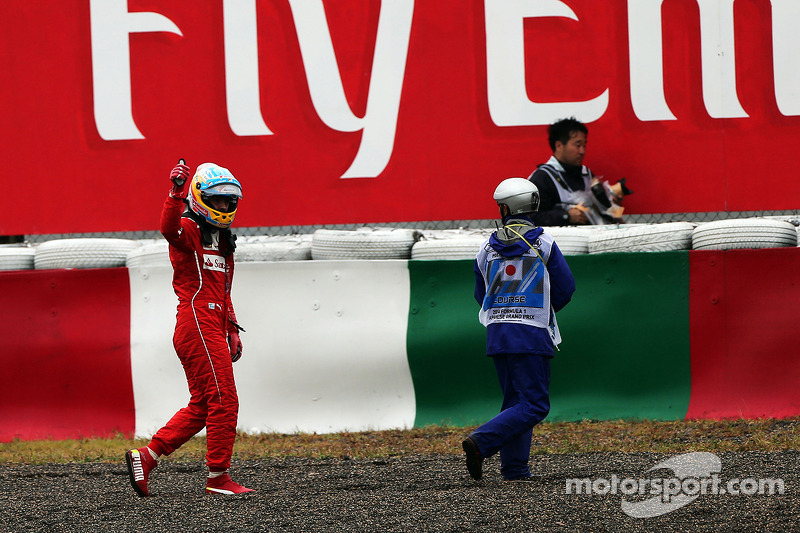 Fernando Alonso, Ferrari retired from the race