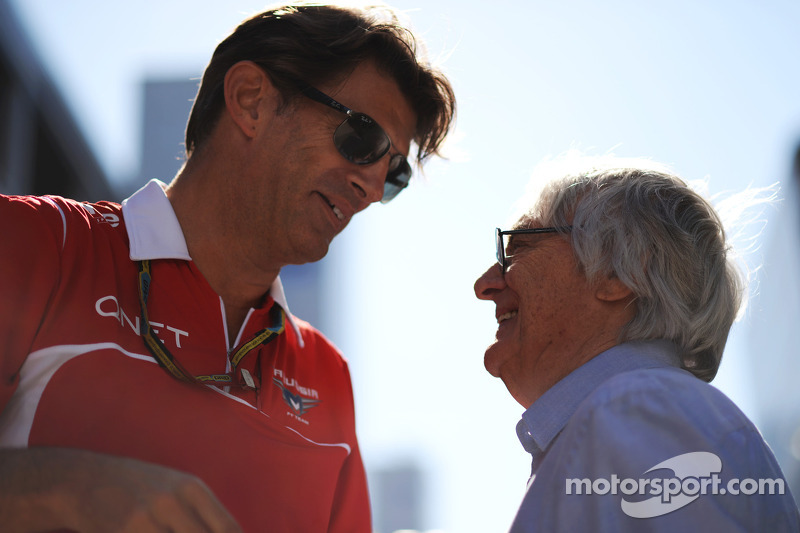 (L to R): Graeme Lowdon, Marussia F1 Team Chief Executive Officer with Bernie Ecclestone