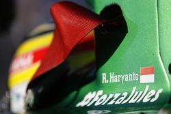 #ForzaJules on car of Rio Haryanto