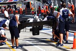 Felipe Massa, FW36 Williams cambia su ala delantera