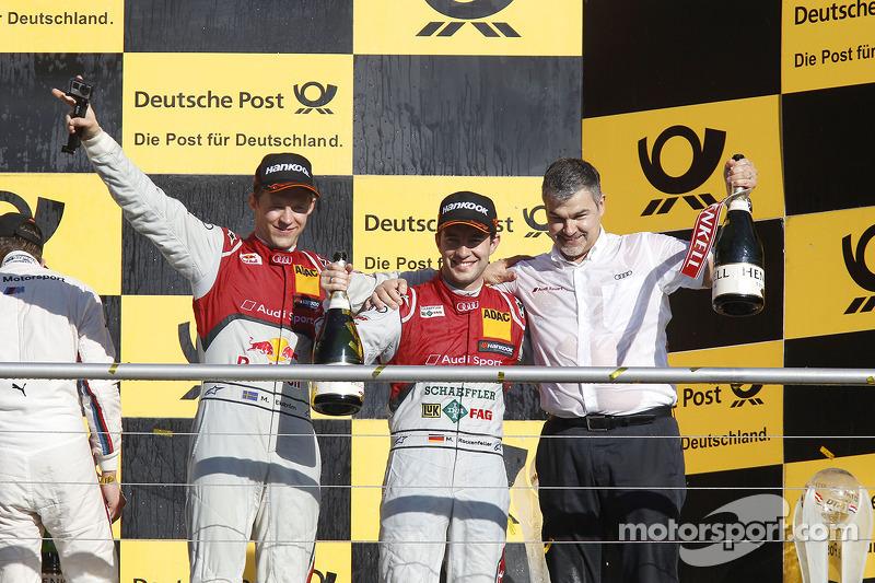 Şampiyona Podyumu, İkinci Mattias Ekstrom, Audi Sport Takımı Phoenix Audi RS 5 DTM, Dieter Gass, Aud