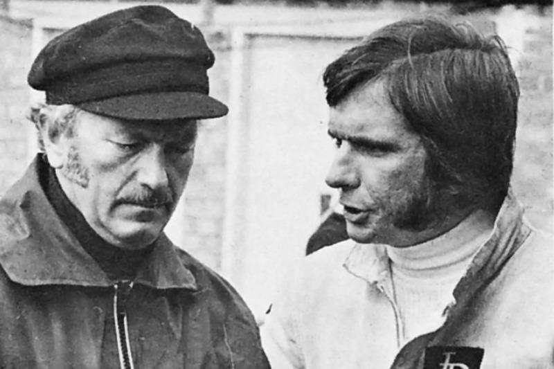 Emerson Fittipaldi y Colin Chapman