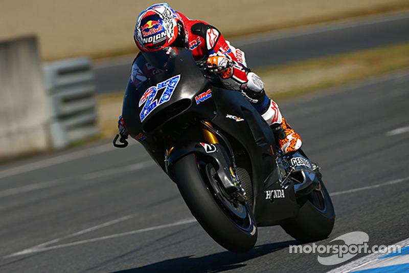 Casey Stoner prueba la Honda MotoGP