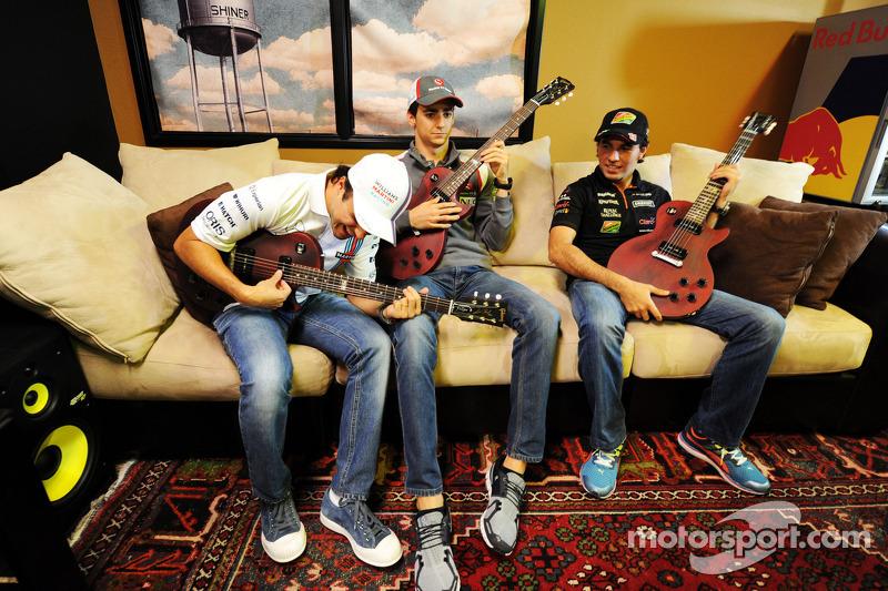 Felipe Massa, Williams; Esteban Gutierrez, Sauber; Sergio Perez, Sahara Force India F1