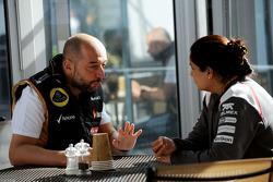 Gérard Lopez avec Monisha Kaltenborn