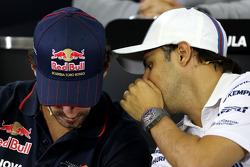 Felipe Massa, Williams F1 Team; Jean-Eric Vergne, Scuderia Toro Rosso