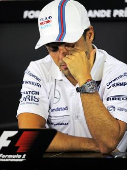 Felipe Massa, Williams, en la conferencia de prensa de la FIA