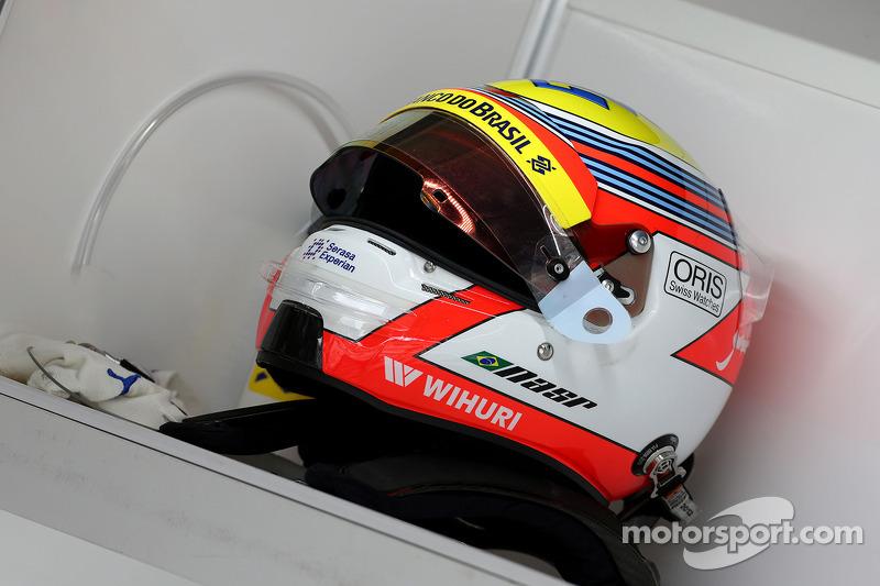 Felipe Nasr'ın kaskı, Williams'ın üçüncü pilotu