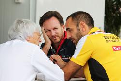 ГП Бразилии, Субботняя тренировка. Берни Экклстоун, Кристиан Хорнер, Red Bull Racing, Сирил Абитбуль, Renault