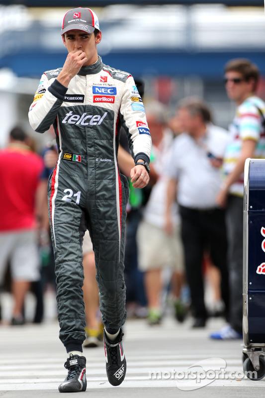 Esteban Gutierrez, Sauber F1 Team  08