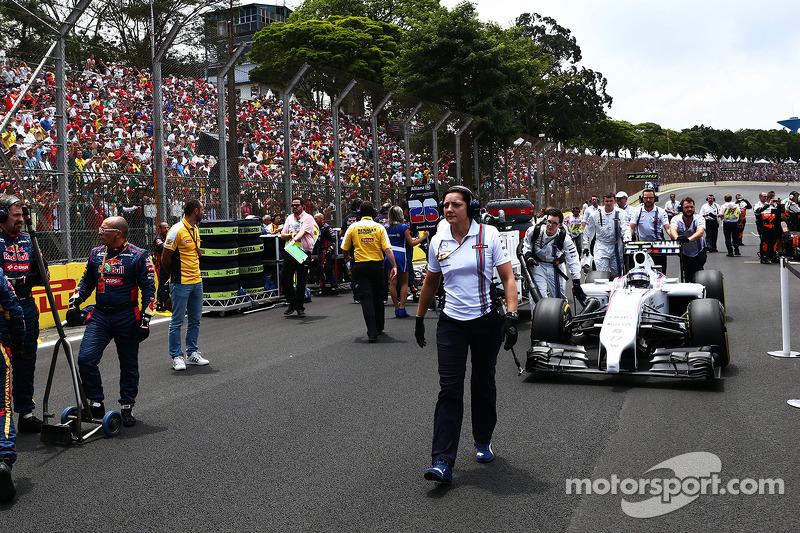 Valtteri Bottas, Williams FW36 sulla griglia di partenza