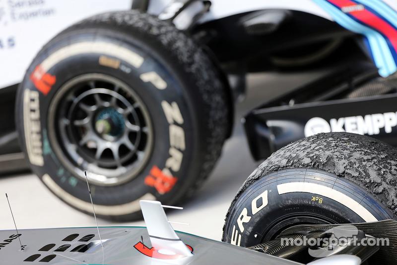 Pirelli pneumatici logori nel Parco chiuso