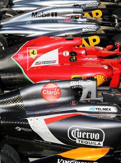 Auto's in post race parc ferme