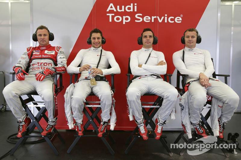 Tom Kristensen, Loic Duval, Benoit Tréluyer, Marcel Fässler, Audi Sport Team